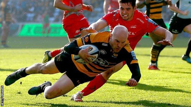Joe Simpson in action for Wasps