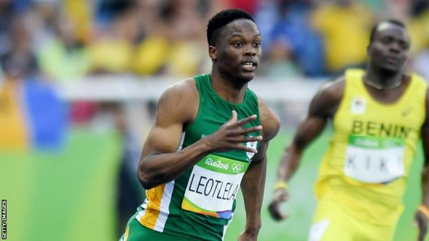 Tlotliso Gift Leotlela in action at the Rio Olympics