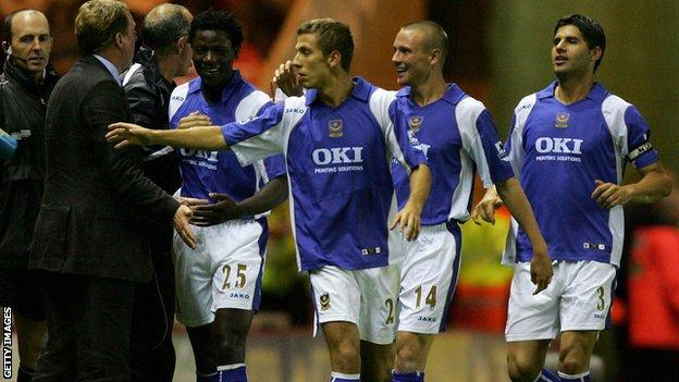 Harry Redknapp and the Portsmouth team