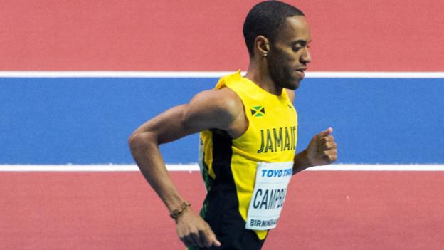 Kemoy Campbell: Jamaican athlete who collapsed told he had died on the track thumbnail