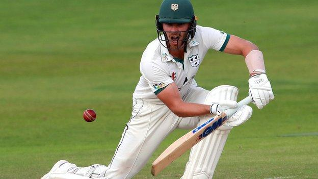 Tom Fell hit his first half century in first-class cricket for Worcestershire in almost two years