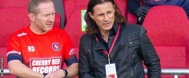 Gareth Ainsworth (right) with his assistant Richard Dobson