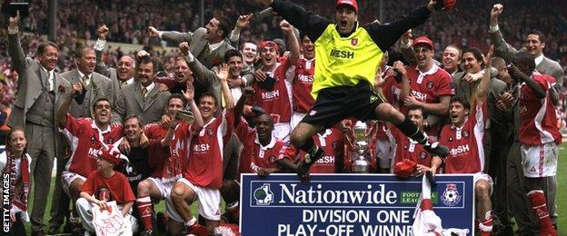 Charlton 1998 play-off winners