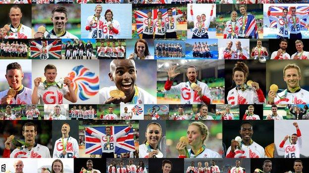 Great Britain's medallists from Rio 2016