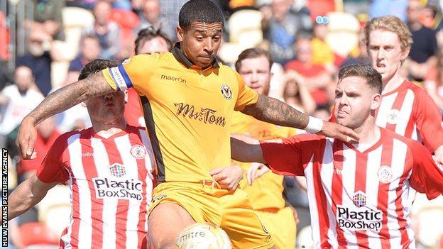 Joss Labadie in action against Accrington Stanley