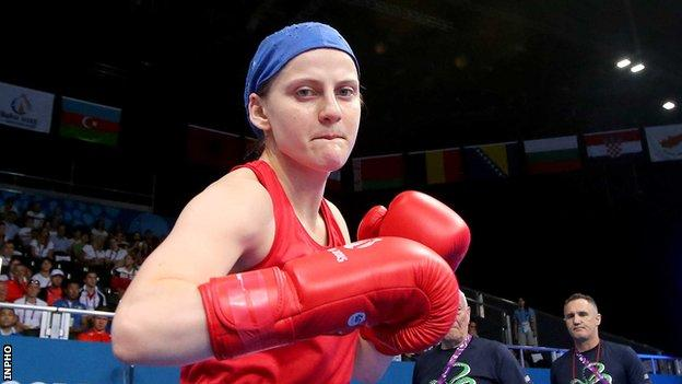 Michaela Walsh defeated the Italian at this year's European Championships