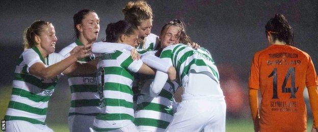 Celtic against Glasgow City
