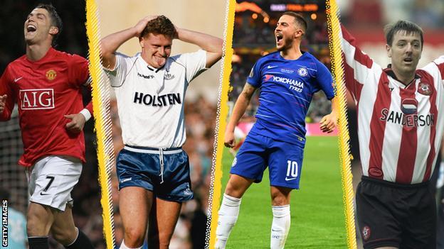 Cristiano Ronaldo, Paul Gascoigne, Eden Hazard, Matt Le Tissier