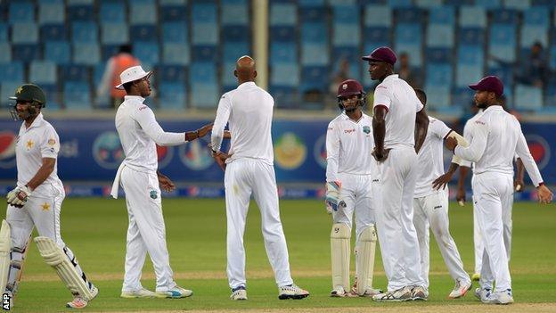 Pakistan against West Indies
