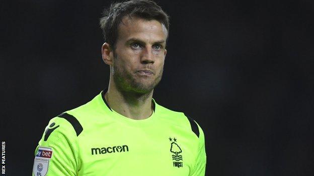 Luke Steele in action for Nottingham Forest