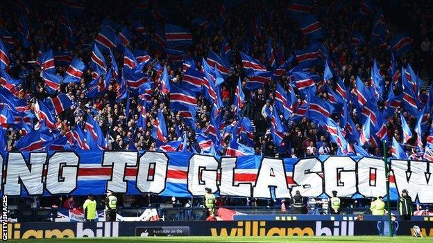 Rangers fans at Hampden