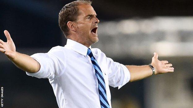 Frank de Boer had a frustrating few months at Inter Milan