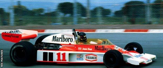 James Hunt driving for McLaren in 1976