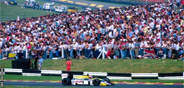 Nigel Mansell at the 1986 British Grand Prix