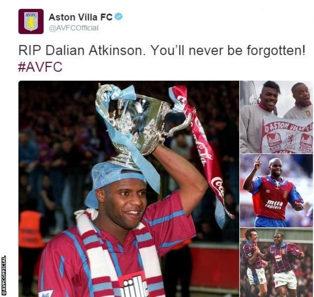 Aston Villa's tribute