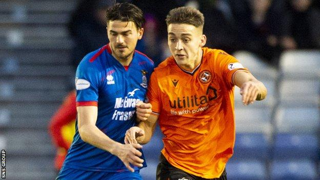 Trafford (left) has made 16 appearances for Scottish Championship club Inverness this season