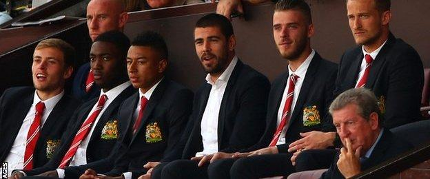 Manchester United's trio of omitted goalkeepers