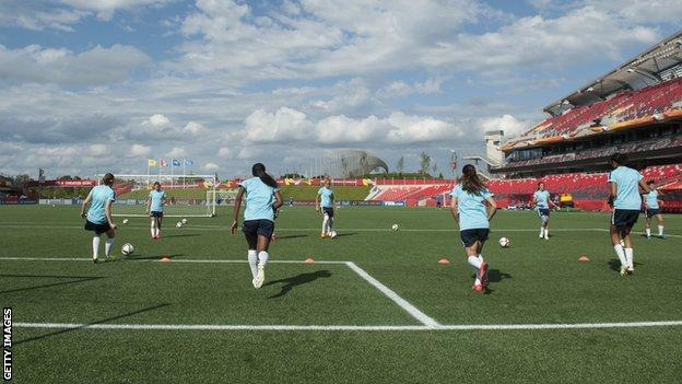 Training at Women's World Cup