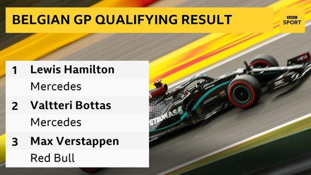 Lewis Hamilton On Pole Position At Belgian Grand Prix Bbc Sport