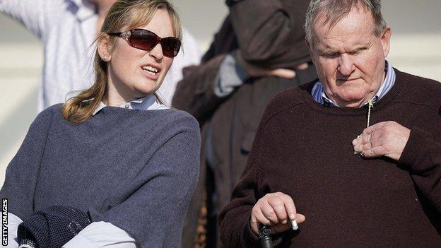 Trainer Emma Lavelle and owner Andrew Gemmell