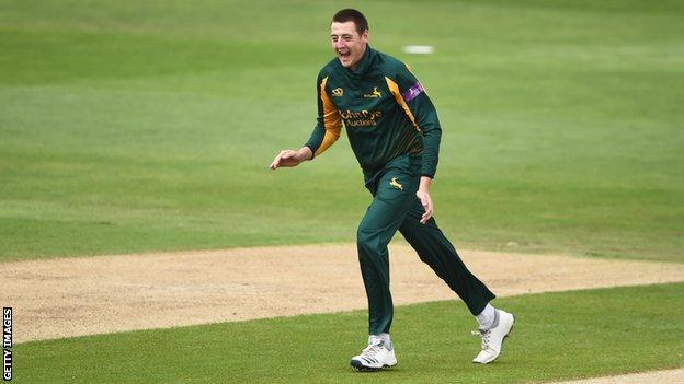 Matt Carter in action for Nottinghamshire