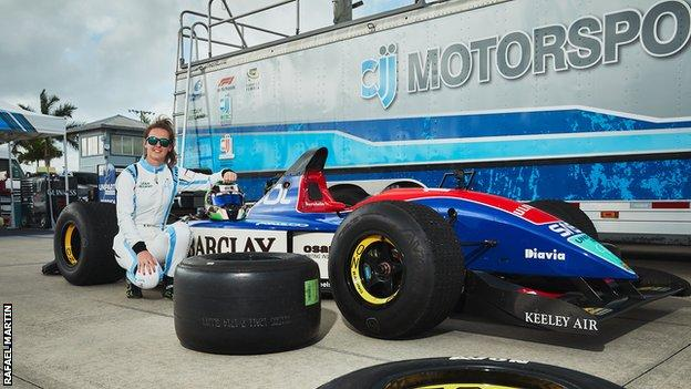 Nicole Drought and a Jordan F1 car