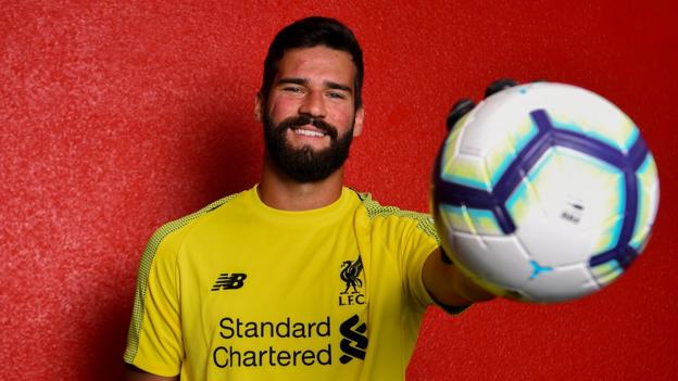 Liverpool sign Alisson for world record fee for keeper