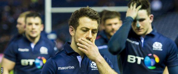 Greig Laidlaw after defeat by England