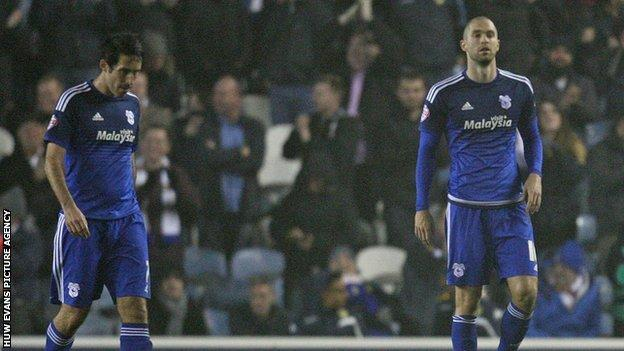 Cardiff's Peter Whittingham and Matthew Connolly