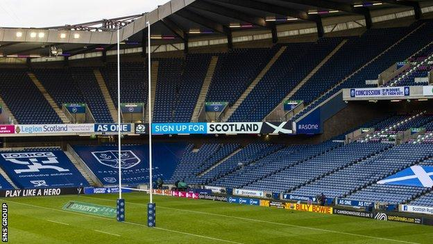 Scottish Rugby have submitted a plan to slowly increase crowds at Murrayfield next year