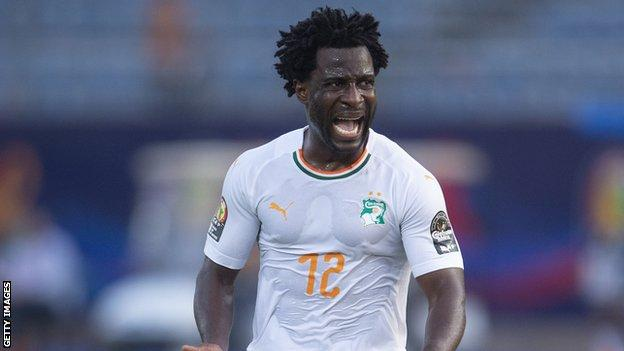 Wilfried Bony playing for Ivory Coast