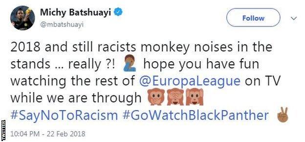 Michy Batshuayi tweet