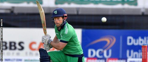 Ed Joyce and Kevin O'Brien put on 71 runs for the fifth wicket as Ireland threatened to chase down West Indies' 258 total