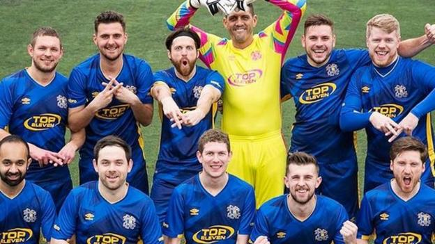 Hashtag united youtube team can 39 bring new fans 39 to non league game bbc sport - Bbc football league 1 table ...
