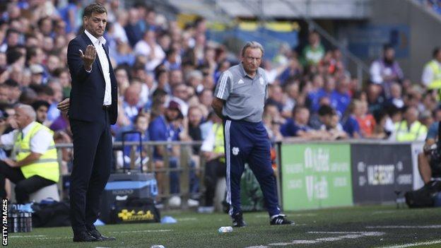 Jonathan Woodgate and Neil Warnock