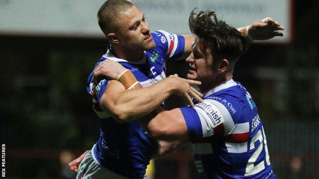 Ryan Hampshire scored Wakefield's opening try before adding a killer second four minutes after the break