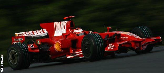 Ferrari in their last constructors-winning year, 2008.