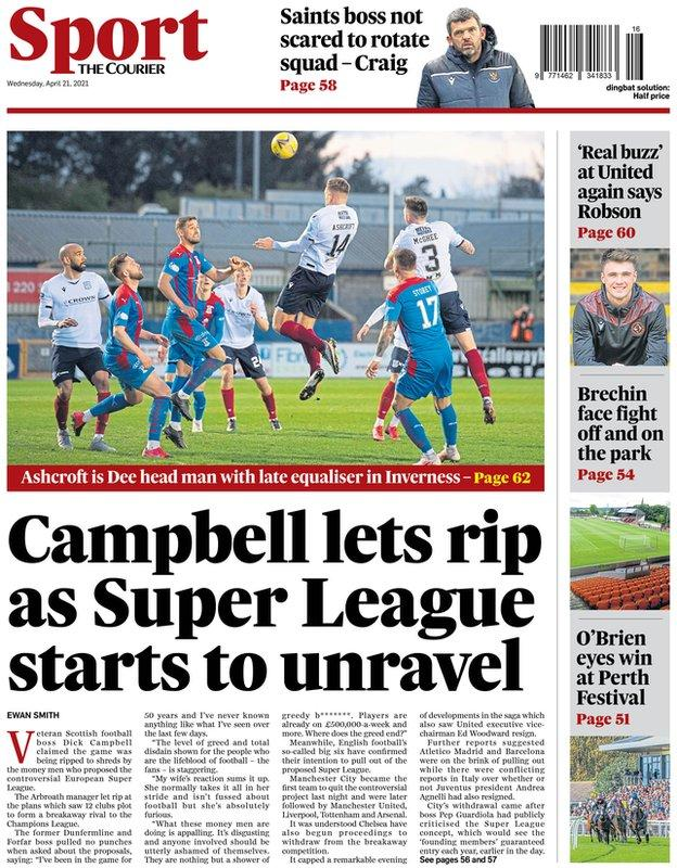 The back page of the Courier on 210421