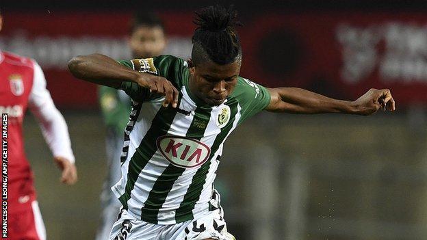 Nigerian midfielder Mikel Agu