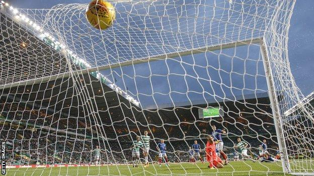 Celtic score against Linfield in the Champions League qualifier in Glasgow