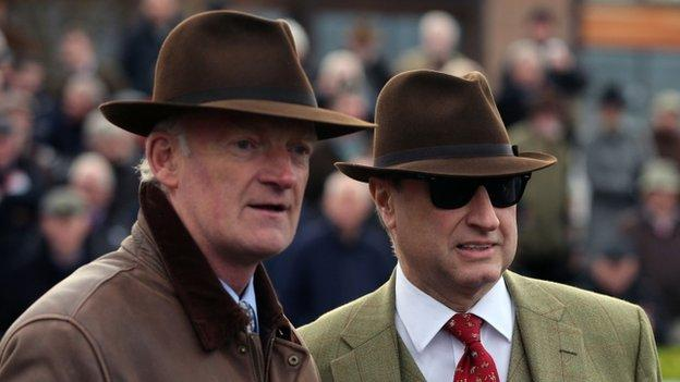 Trainer Willie Mullins and owner Rich Ricci