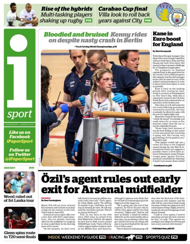 Saturday's back pages - iSport