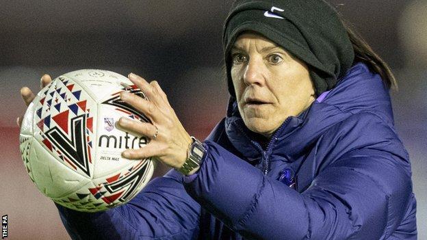 Karen Hills takes part in a Tottenham warm-up
