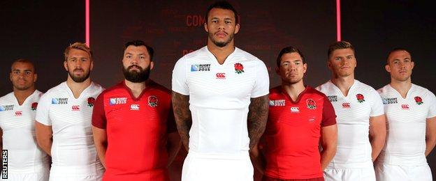 Courtney Lawes and co model England's World Cup kit