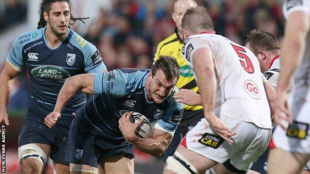 Sam Warburton in action for Cardiff Blues against Ulster
