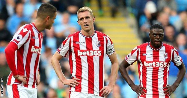 Darren Fletcher was in the Stoke side that lost 7-2 at Etihad Stadium in October 2017