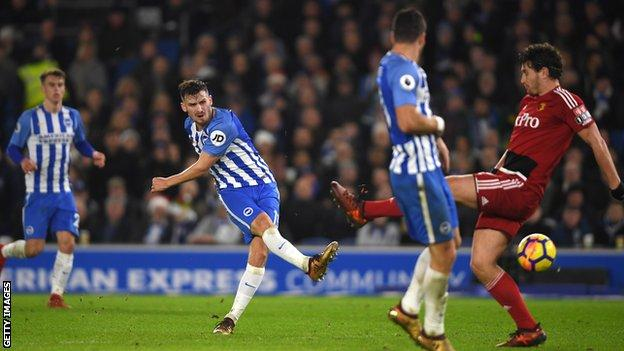 Pascal Gross scores for Brighton