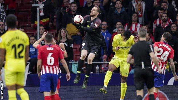 Jan Oblak in action for Atletico Madrid