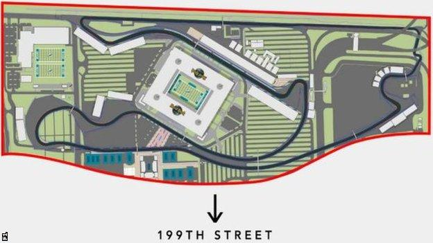Map of the new proposed track for the Miami Grand Prix