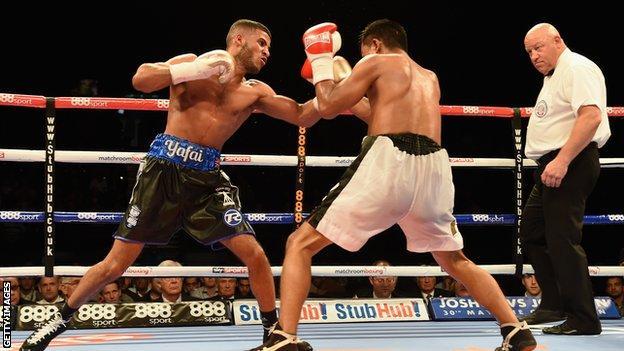 Britain's Gamal Yafai throws a punch